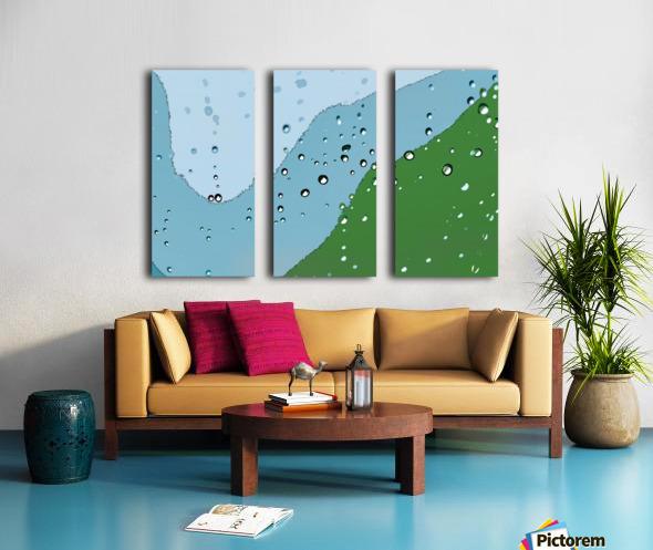 Raindrops 1  Split Canvas print