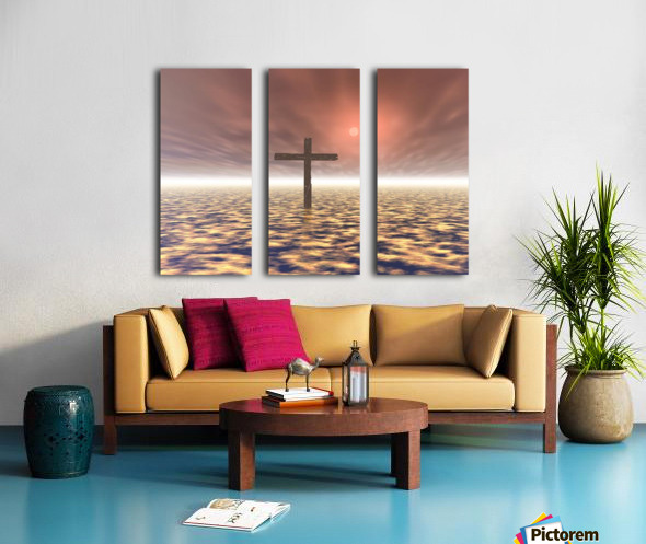 The Mystery Of The Cross Split Canvas print