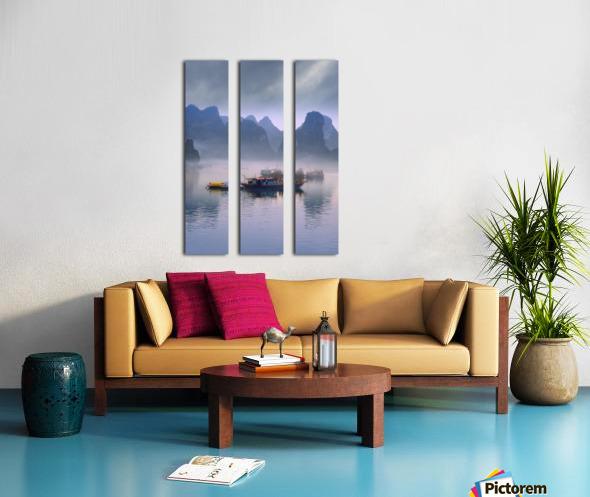 Junks On Halong Bay Split Canvas print