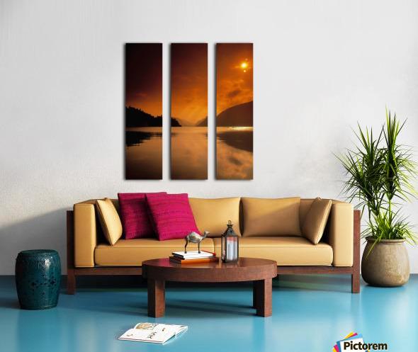 Glenveagh Castle And Lough Veagh, Glenveagh National Park, Co Donegal, Ireland Split Canvas print
