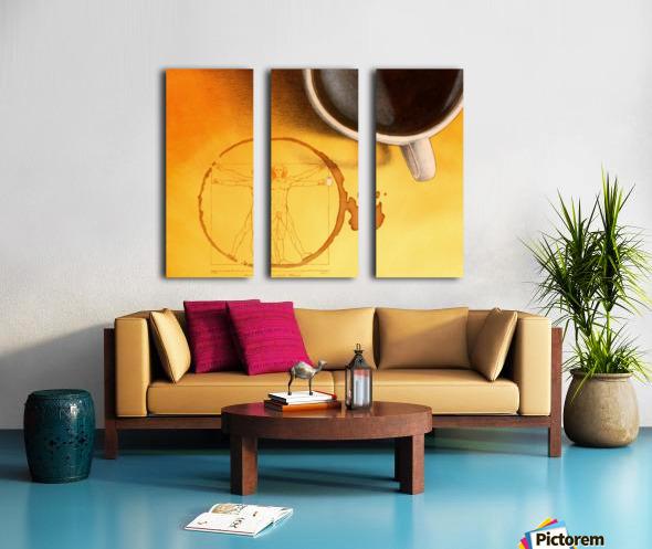 coffee man Split Canvas print