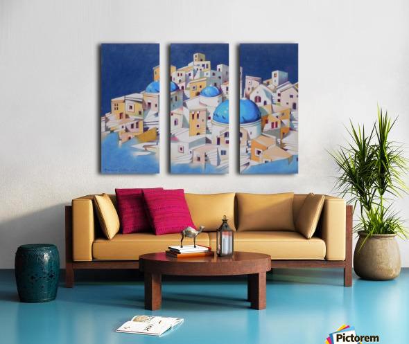 Memory of Santorini Split Canvas print