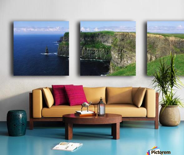 Cliffs Of Moher, Co Clare, Ireland; Cliffs On The Atlantic Ocean Split Canvas print
