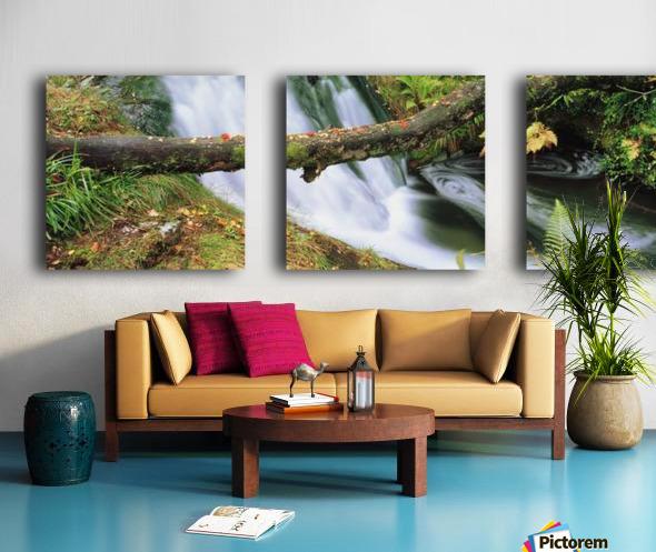 Ireland; Waterfall Split Canvas print