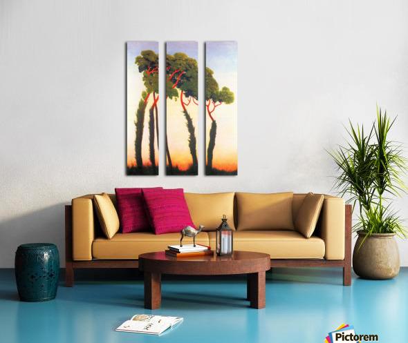 Five Trees by Felix Vallotton Split Canvas print