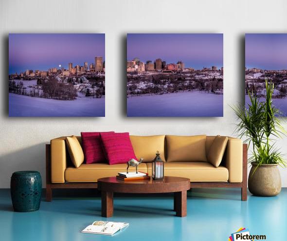 Panoramic City Landscape Split Canvas print