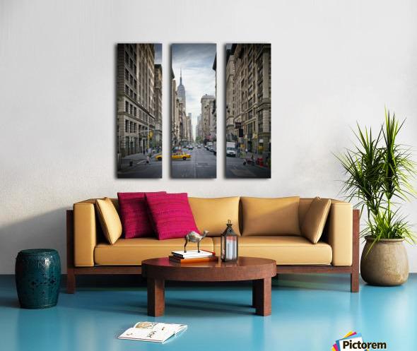 NEW YORK CITY 5th Avenue   Split Canvas print
