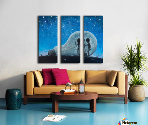 The Night We Broke The Moon Split Canvas print