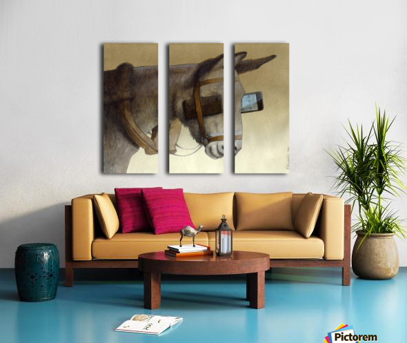blinkers Split Canvas print