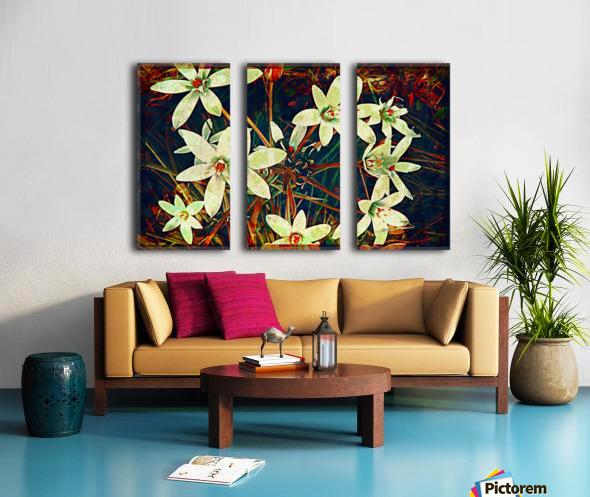 WhiteDarkWallflowers Split Canvas print