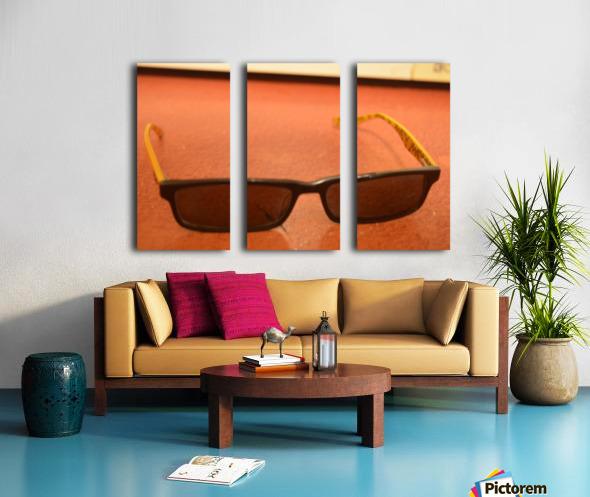 Sun glasses Split Canvas print