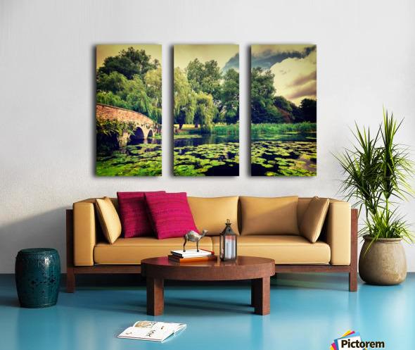 Zen Meditation Lily Pond Split Canvas print