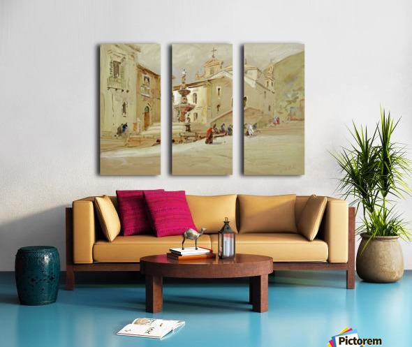 The Fountain, Taormina Split Canvas print