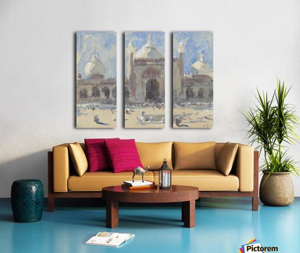 Entrance to the Jama Masjid, Delhi Split Canvas print