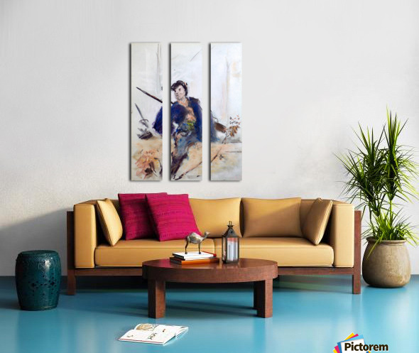 Study of a French soldier Split Canvas print