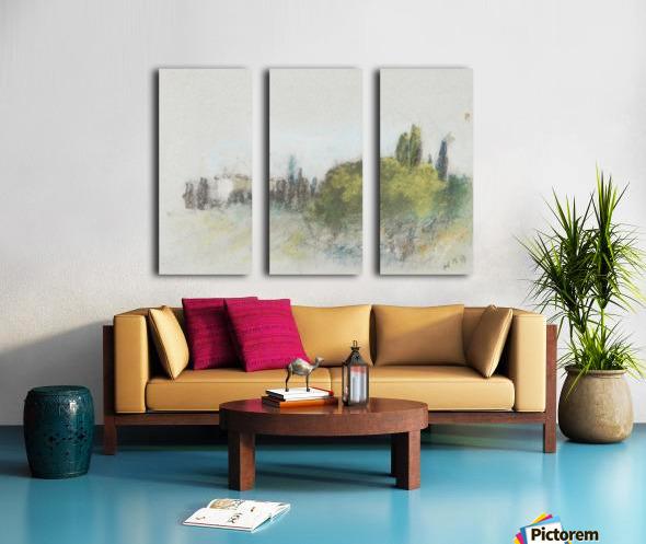 Villa Arson Split Canvas print