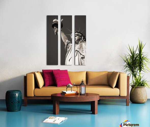 Statue Of Liberty, Lower Manhattan, New York City, New York, Usa Split Canvas print