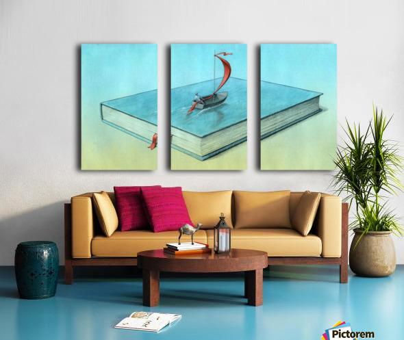 life Split Canvas print