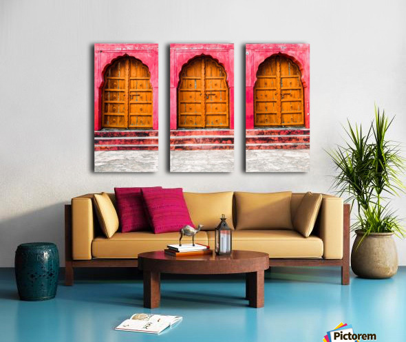 Doors of the Pink City  Split Canvas print