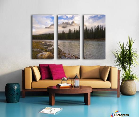 Mountain Landscape, Banff National Park, Alberta, Canada Split Canvas print