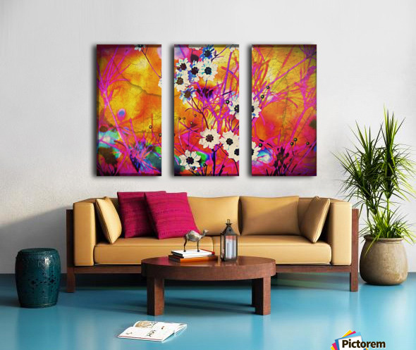 Fancy Weeds Split Canvas print
