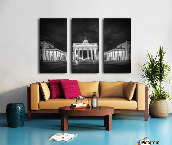 BERLIN Brandenburg Gate | Monochrome Split Canvas print