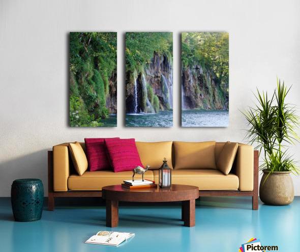 waterfall - Plitvicer lakes-nationalpark Split Canvas print