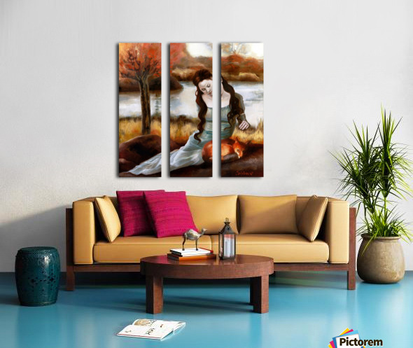FoxFairy Split Canvas print