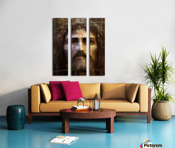 Christ face reconstruction Split Canvas print