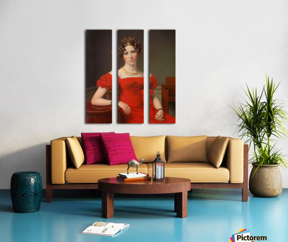 Portrait of Louise Christiane Fugl Split Canvas print