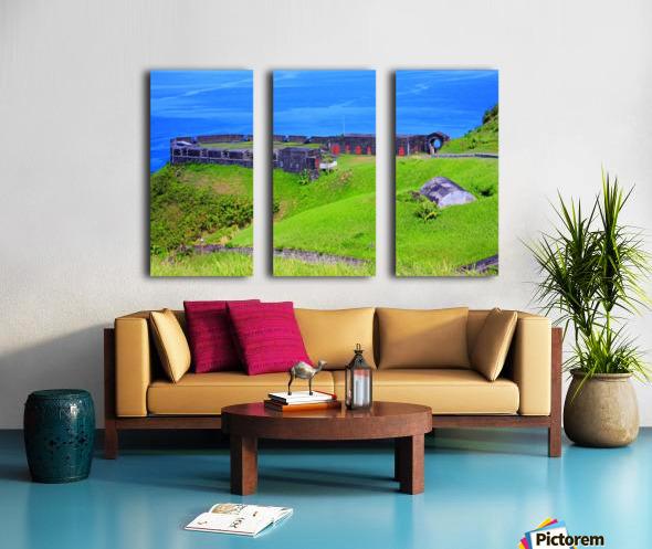 St Kitts Brimstone Hill Bastion Split Canvas print