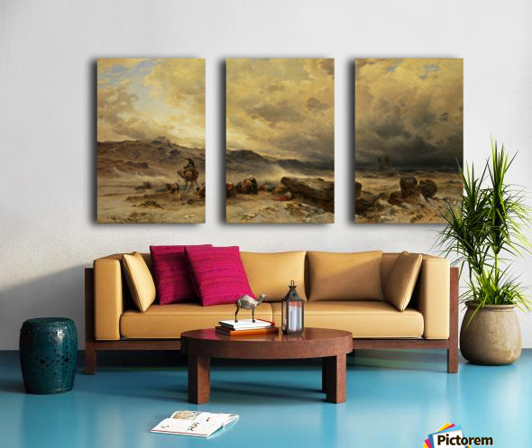 Caravan in a sandstorm Split Canvas print