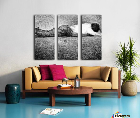 Man sleeping by Seurat Split Canvas print