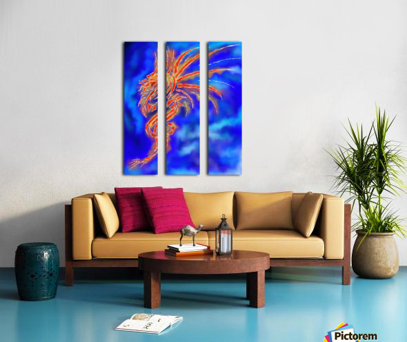 Essemios - furious dragon Split Canvas print