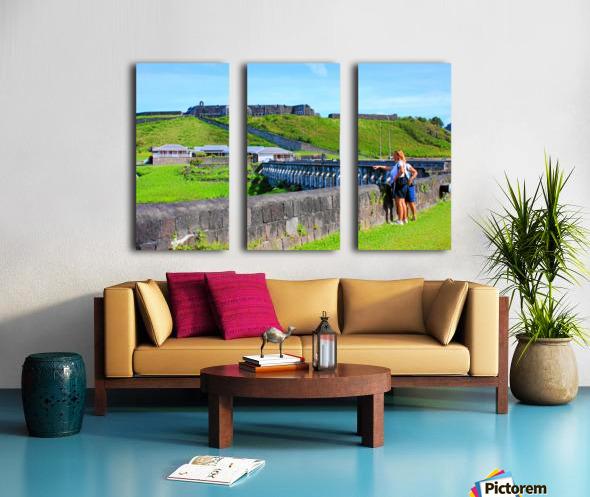 St Kitts Brimstone Hill 2 Split Canvas print