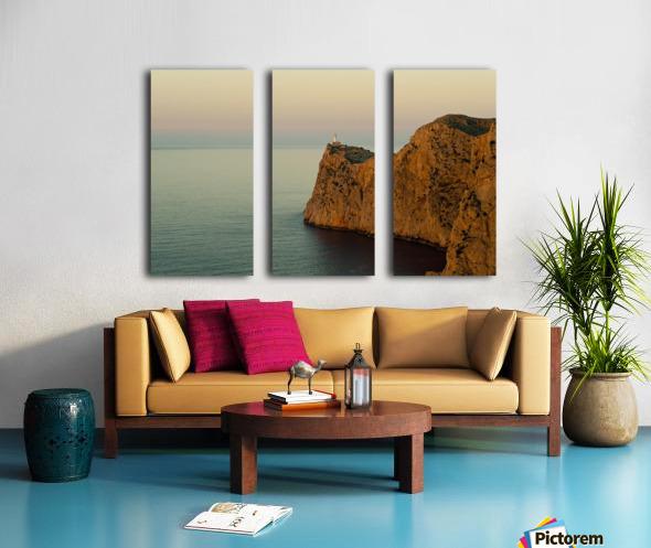 Views Of The Lighthouse At Sunset, Cap De Formentor, Mallorca, Balearic Islands, Spain Split Canvas print
