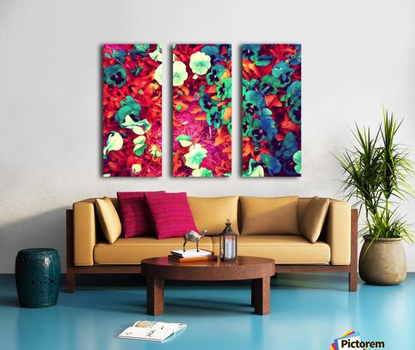 mwc garden flowers one Split Canvas print