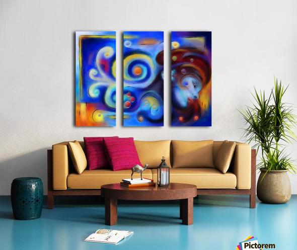 Escanillium - butterfly lady Split Canvas print