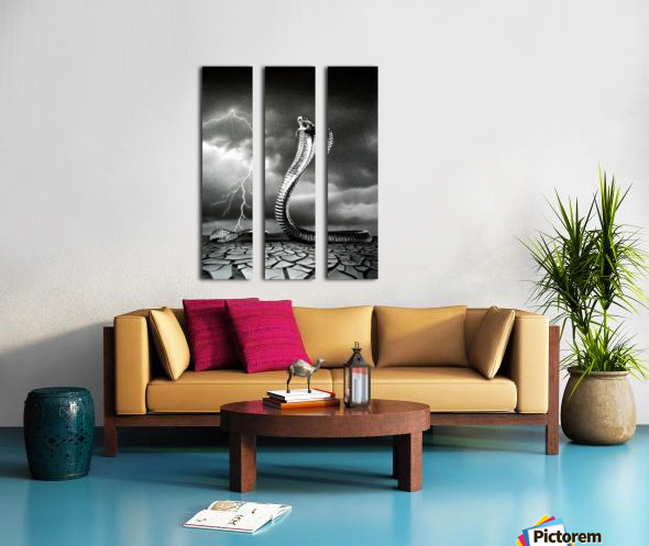THE STORM IS COMING... Split Canvas print