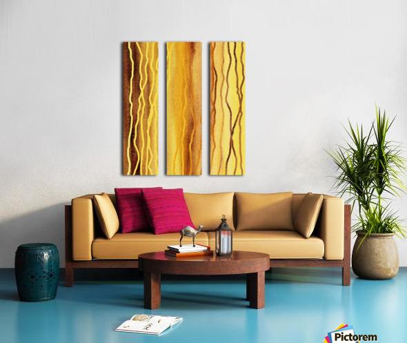 Organic Lines Beige Abstract Split Canvas print
