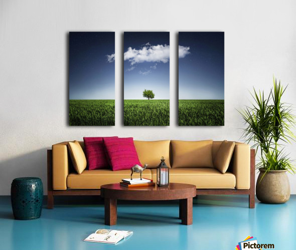 A tree covered with clouds Split Canvas print