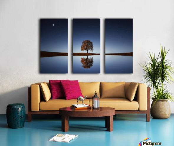 Reflection tre Split Canvas print