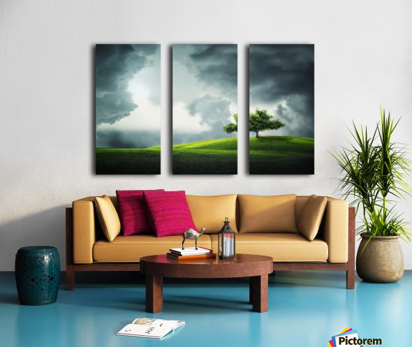 Lonely Tree, birds Split Canvas print