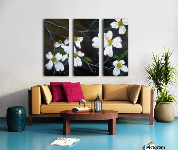 dogwoods Split Canvas print