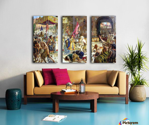 Freeing the sclaves Split Canvas print