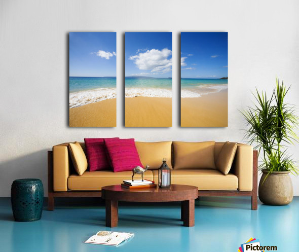 USA, Hawaii Islands, Maui, Big Beach; Makena Split Canvas print