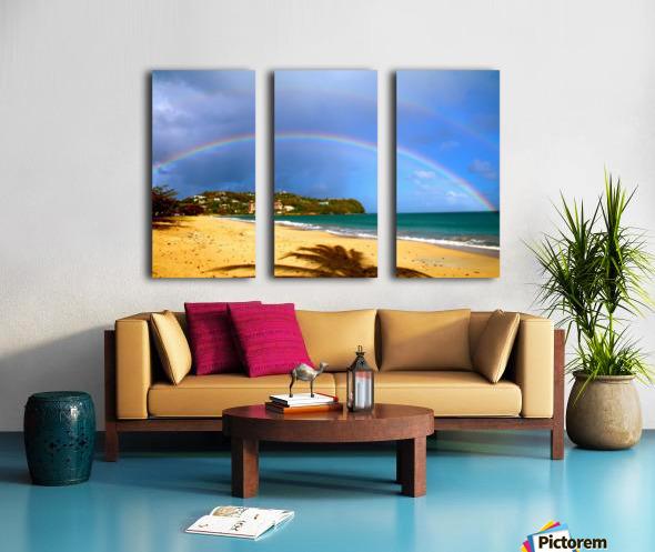 Rainbow Split Canvas print