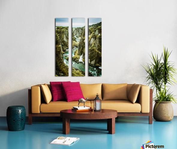 Green Canyon Split Canvas print