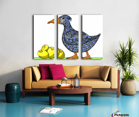 Goose and Golden Eggs Split Canvas print