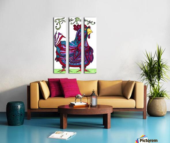 Free Range Edgar Split Canvas print